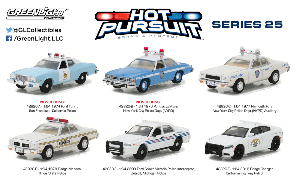 Hot Pursuit Series 25 Greenlight 42820 1/64