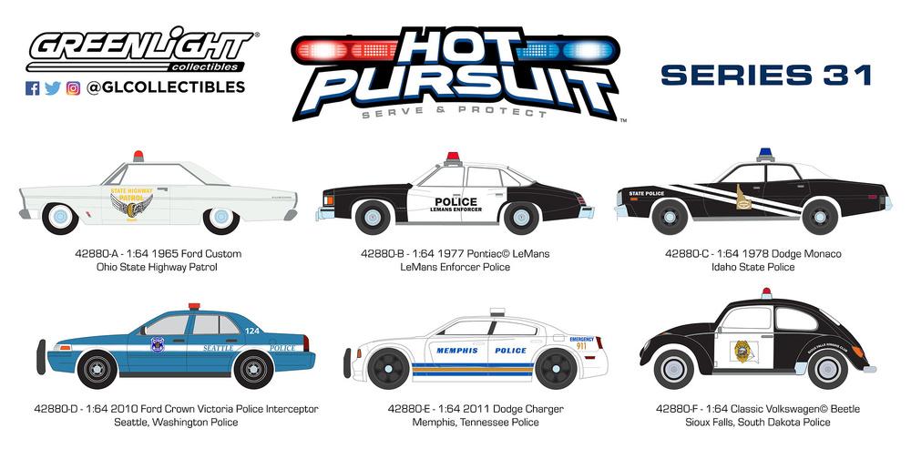 Dodge Charger - Policía de Memphis (Tennesse) (2011) Greenlight 42880E 1/64