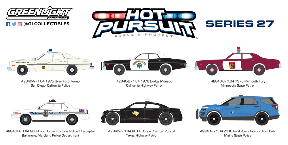 Dodge Charger Pursuit - Texas Highway Patrol (2011) Greenlight 1/64