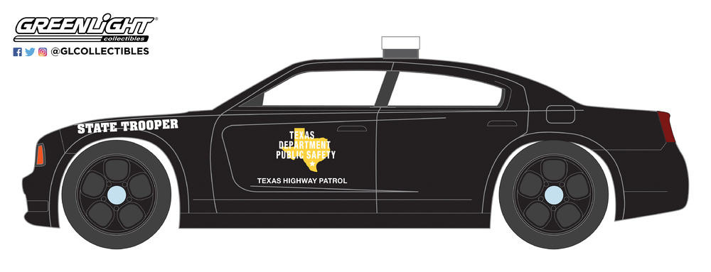 42840-E - 1-64 Hot Pursuit 27 - 2011 Dodge Charger Pursuit - TX Highway Patrol