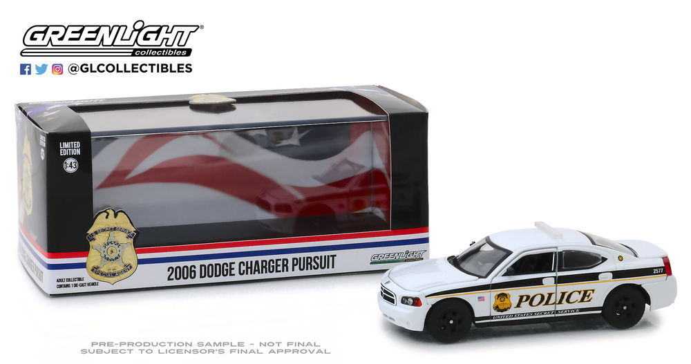Dodge Charger Unidad de Servicio Secreto (2006) Greenlight 86171 1/43