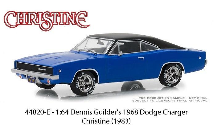 Dodge Charger de 1968 Dennis Guilder's Christine (1983) Greenlight 44820E 1/64