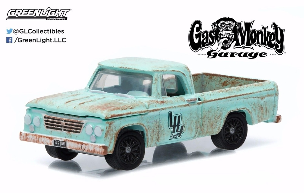 Dodge D-100 decorado (1964) Gas Monkey Garage (Serie TV 2012) Greenlight 44700E 1/64