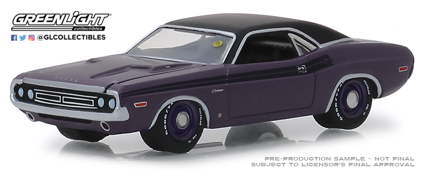 Dodge HEMI Challenger R/T Plum (1971) Greenlight 37170D 1/64