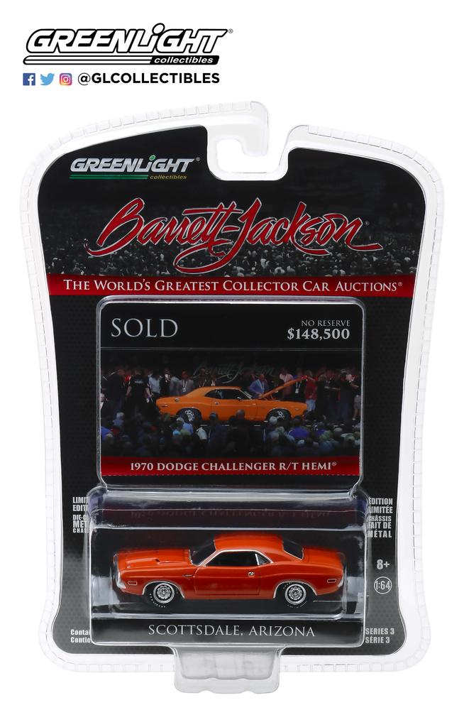 Dodge HEMI Challenger R/T - lote 1330 (1970) Greenlight 1/64