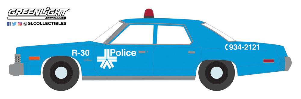 Dodge Monaco Policia de Montreal, Canadá (1965) Greenlight 42890A 1/64