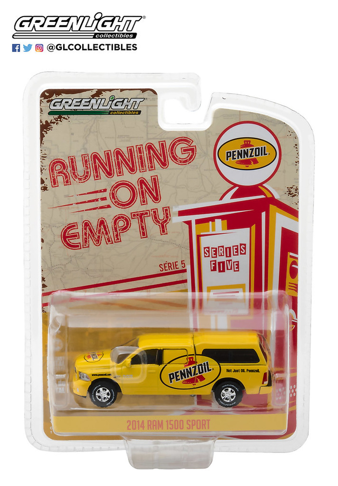 41050-F 1:64 Running on Empty Series 5 - 2014 Ram 1500 with Camper Shell Pennzoil