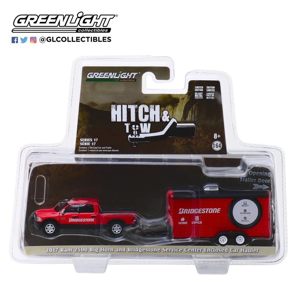 Dodge Ram 2500 Servicio de transporte de vehículo Bridgestone (2017) Greenlight 32170C 1:64