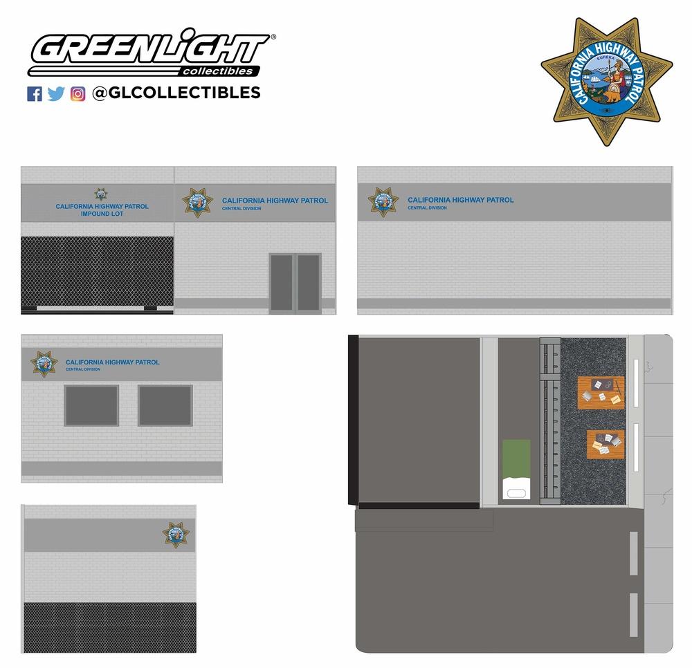 Edificio Comisaría central de la policía de California Greenlight 57053 1/64