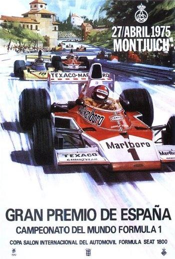 Poster del GP. F1 de España de 1975