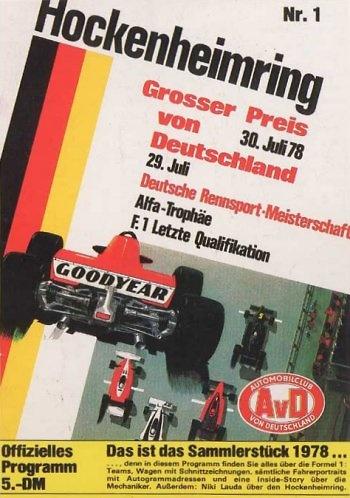 Poster del GP. F1 de Alemania de 1978