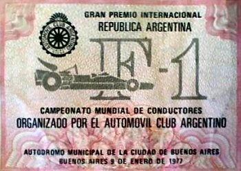 Poster GP. F1 Argentina 1977