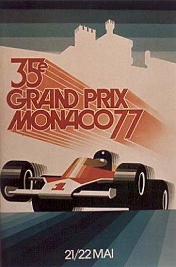 Poster GP. F1 Mónaco 1977