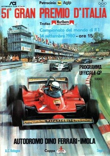 Poster del GP. de Italia de 1980