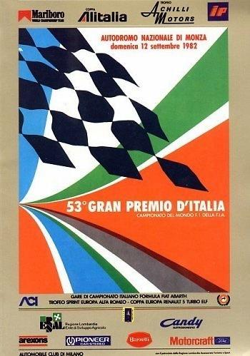 Poster del GP. Italia de 1982