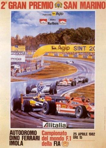 Poster del GP. F1 de San Marino de 1982
