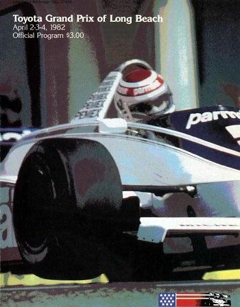 Poster del GP. USA West circuito de Long Beach de 1982