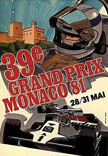 Poster del GP. F1 de Mónaco de 1981