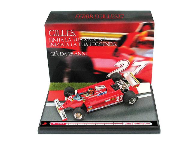 Ferrari 126 CK turbo Gilles Villeneuve nº 27 (1981) Brumm 1/43