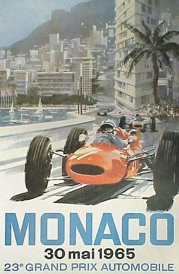 Poster GP. F1 Mónaco 1965
