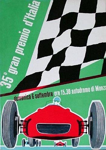 Poster GP. F1 de Monza de 1964