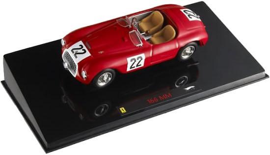 Ferrari 166 MM Barchetta Le Mans nº 22 (1949) Hot Wheels 1/43