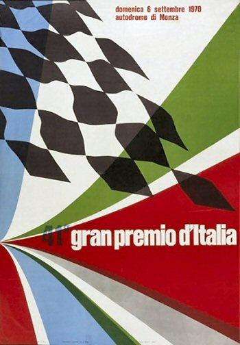 Poster del GP. F1 de Italia de 1970
