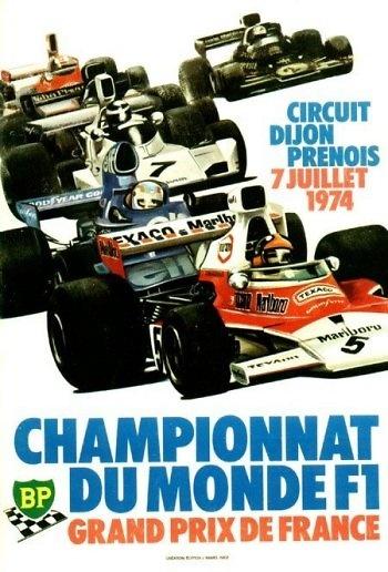 Poster GP. F1 Francia 1974