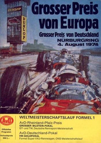 Poster del GP. F1 de Alemania de 1974
