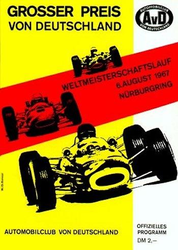Poster del GP. F1 de Alemania de 1967
