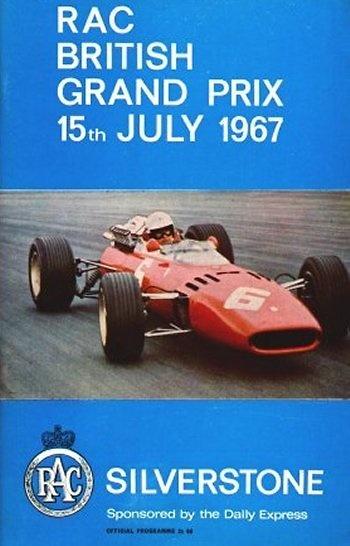 Poster del GP. de Gran Bretaña de 1967