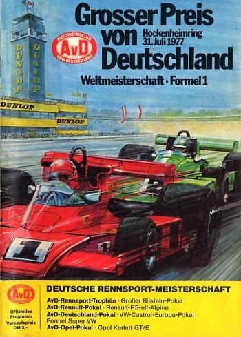 Poster del GP. F1 de Alemania de 1977