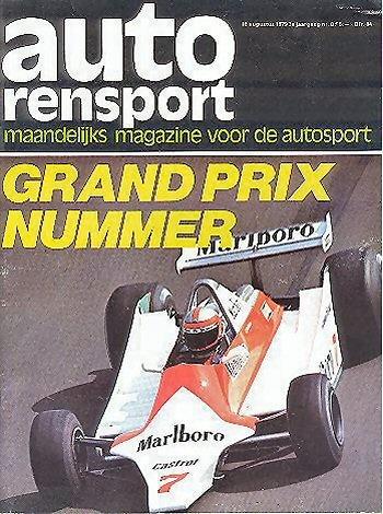 Poster del GP. F1 Holanda 1979