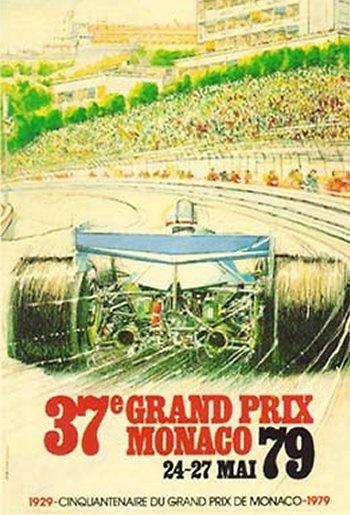 Poster del GP. F1 de Mónaco de 1979