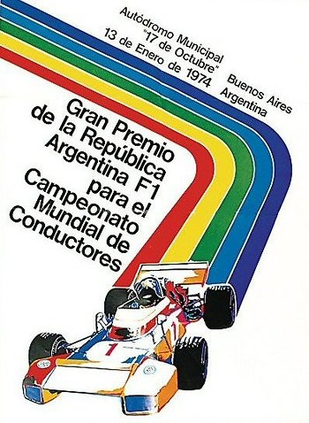 Poster GP. F1 Argentina 1974