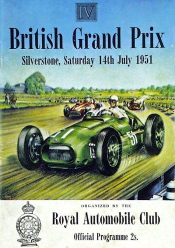 Poster del GP. F1 de Gran Bretaña de 1951