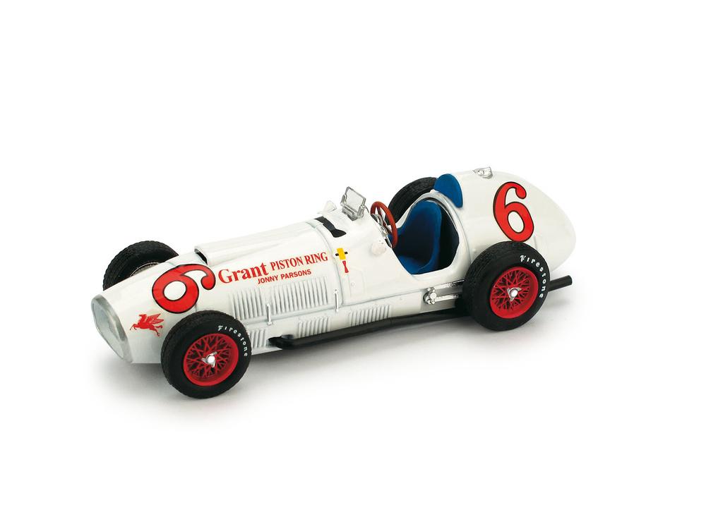 Ferrari 375 Prueba Indianapolis nº 6 Johnnie Parsons (1952) Brumm R168 1/43