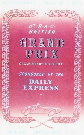 Poster del GP. F1 de Gran Bretaña de 1953