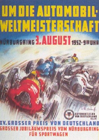 Poster GP. F1 Alemania 1952