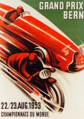 Poster GP. F1 Suiza 1953