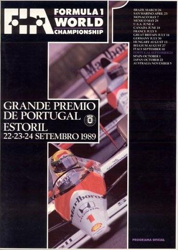 Poster GP. F1 Portugal 1989