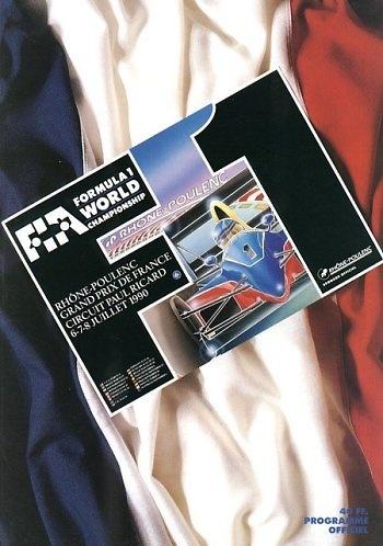Poster del GP. F1 de Francia de 1990