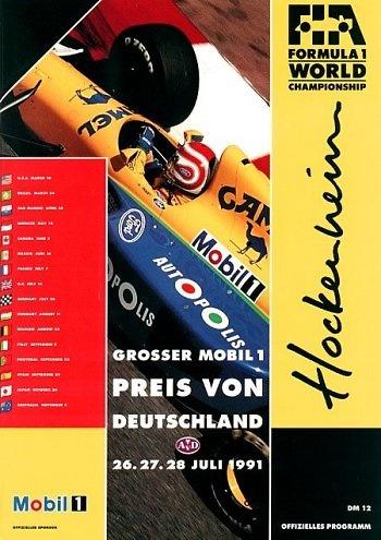 Poster del GP. F1 de Alemania de 1991