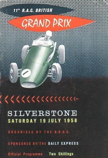 Poster del GP. F1 de Gran Bretaña 1958
