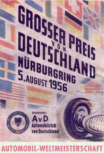 Poster del GP. F1 de Alemania de 1956