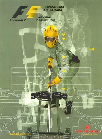 Poster GP. F1 Canadá 2002