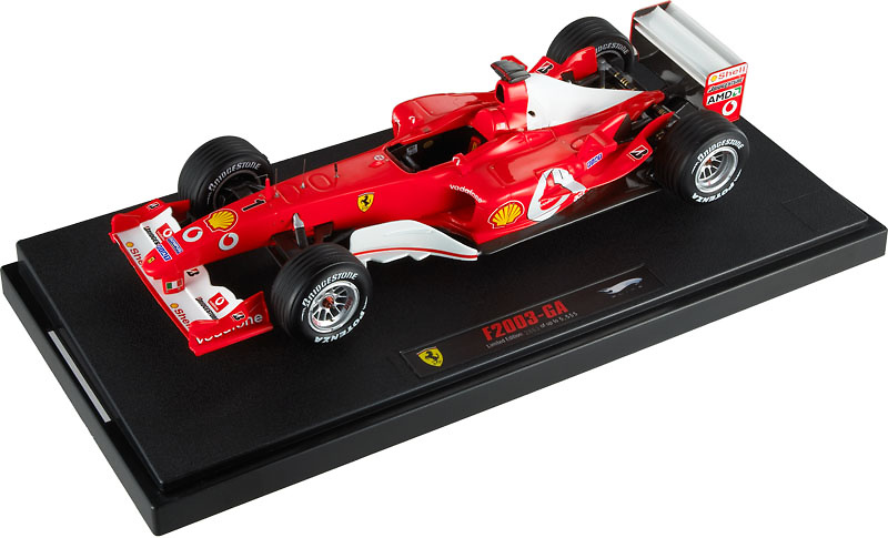 Ferrari F2003 GA nº 1 Michael Schumacher (2003) Hot Wheels N2077 Elite 1/18