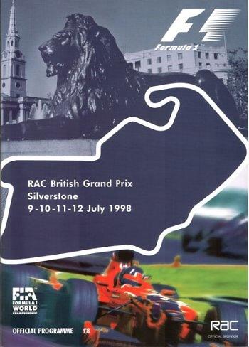 Poster del GP. F1 de Gran Bretaña de 1958
