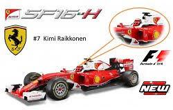 Ferrari SF16-H nº 7 Kimi Raikkonen (2016) Bburago 16802R 1/18
