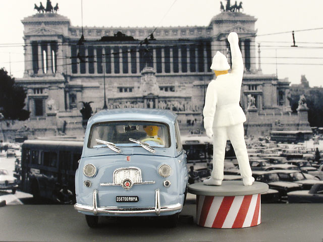 Fiat 600D Multipla con Guardia (1960) Brumm AS52R 1/43